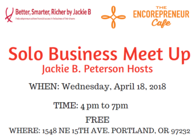 Solo Business Meet Up – Jackie B. Peterson Hosts