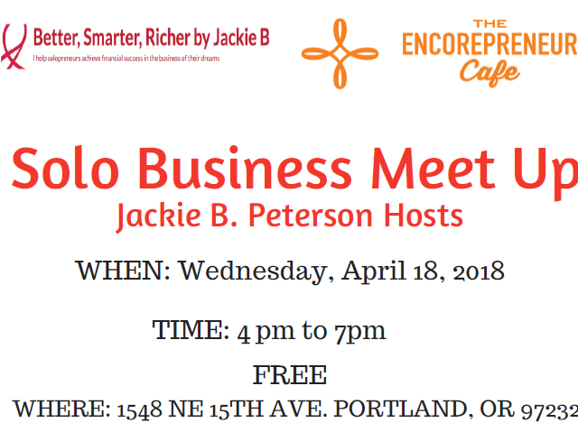 Solo Business Meet Up - Jackie B. Peterson Hosts