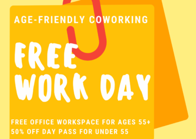 Age-friendly Co-working FREE WORK DAY